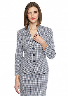 Nine West Three Button Gingham Jacket