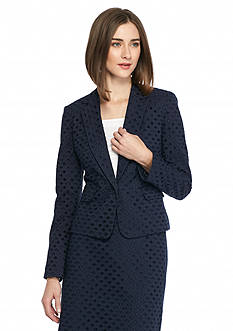 Nine West Eyelet Notch Lapel Jacket