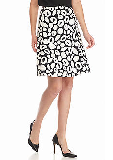 Nine West Woven Print Skirt