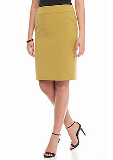 Nine West Solid Straight Skirt