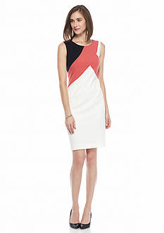 Nine West Colorblock Sleeveless Dress