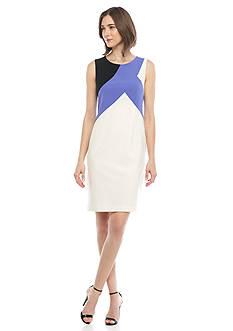 Nine West Colorblock Sleeveless Dress