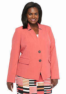 Nine West Plus Size Dual Button Jacket