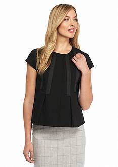 Nine West Solid Short Sleeve Jacket