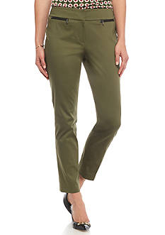 Nine West Cotton Straight Pants