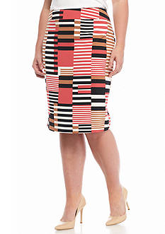 Nine West Plus Size Straight Skirt