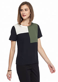 Nine West Colorblock Top