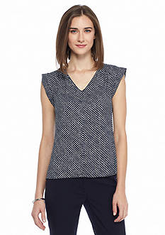 Nine West V-Neckline Blouse