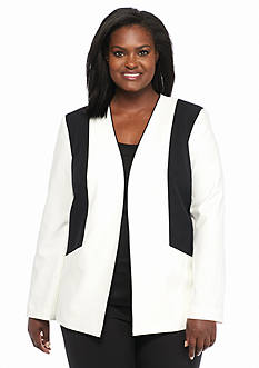 Nine West Plus Size Colorblock Jacket