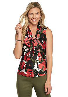 Nine West Print Neptune Blouse