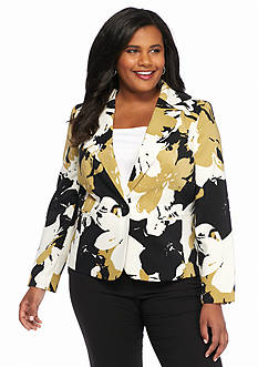 Nine West Plus Size Print Jacket