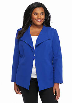 Nine West Plus Size Wide Lapel Jacket