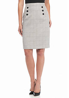 Nine West Plaid Skirt
