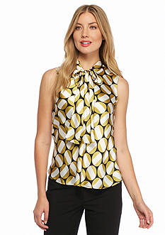 Nine West Tie Neck Blouse