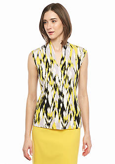 Nine West Print Jersey Knit Top
