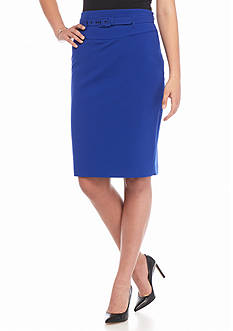 Nine West Belted Slim Skirt