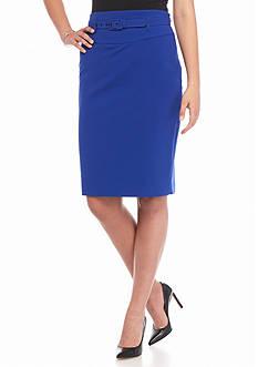 Nine West Belted Slim Skirt