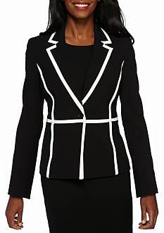Nine West Stretch Crepe 1-Button Jacket