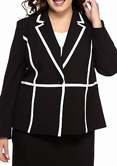 Nine West Plus Size Seamed Detail Jacket