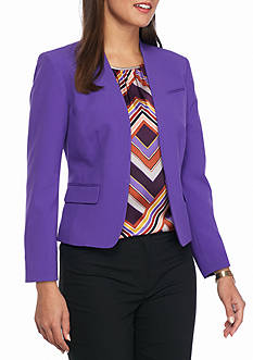 Nine West Solid Tailored Jacket