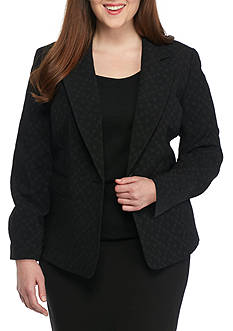 Nine West Plus Size One Button Jacket