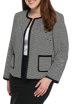 Nine West Plus Size Knit Jacquard Jacket