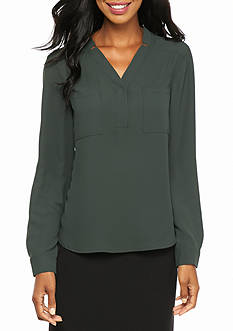 Nine West Y Neck Blouse