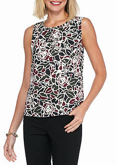 Nine West Floral Print Blouse