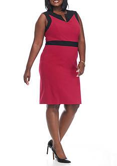 Nine West Plus Size Colorblock Sheath Dress