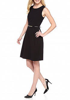 Nine West Sleeveless Belted Dress