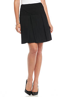 Nine West Pleated Crepe Skirt