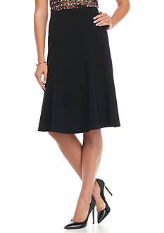 Nine West Solid Flare Skirt