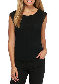 Nine West Pleated Cap Sleeve Blouse