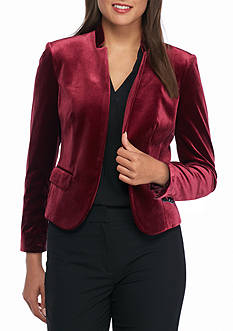 Nine West Wine Velvet Kiss Jacket