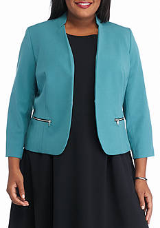 Nine West Plus Size Single Hook Jacket
