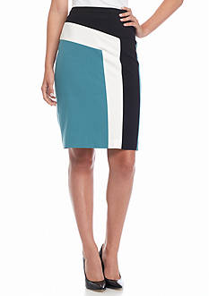 Nine West Colorblock Slim Skirt