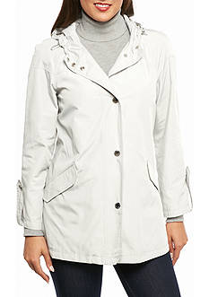 Anne Klein Raincoat With Hood