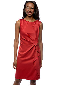 Jones New York Dress Side Ruffle Dress