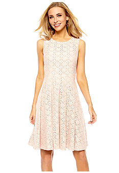 Jones New York Dress Sleeveless Allover Lace Dress
