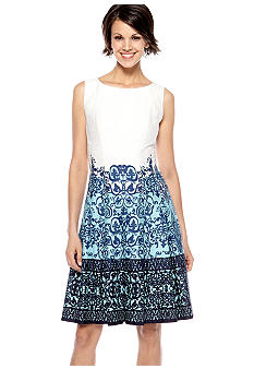 Jones New York Dress Sleeveless Fit and Flare Dress