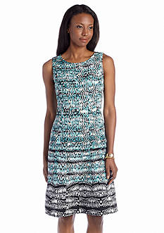 Jones New York Dress Sleeveless Printed Aline Dress