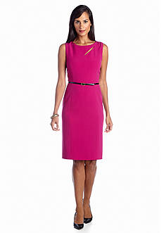 Jones New York Dress Cutout Belted Sheath Dress