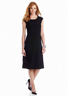 Jones New York Dress Cap Sleeve A-line Dress
