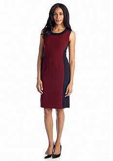 Jones New York Dress Colorblock Sheath Dress