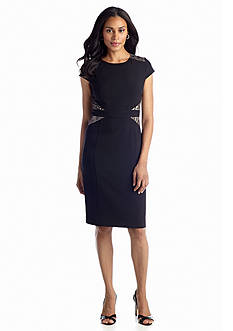 Jones New York Dress Cap-Sleeve Sheath Dress
