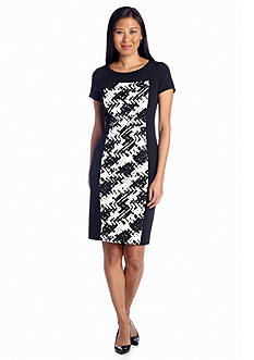 Jones New York Dress Panel Printed Shift Dress