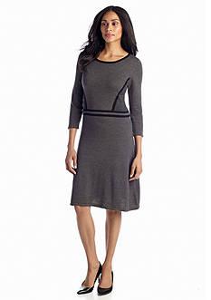 Jones New York Dress Fit-and-Flare Sweaterdress