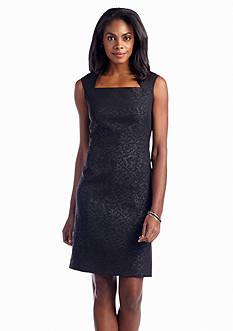 Jones New York Dress Bonded Lace Sheath Dress