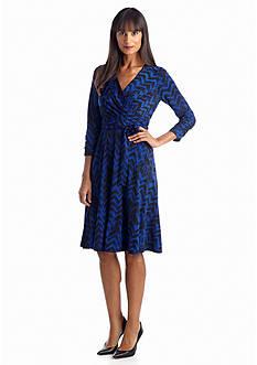 Jones New York Dress Printed Fit and Flare Dress