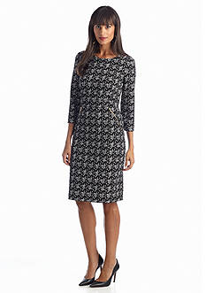 Jones New York Dress Printed Sheath Dress